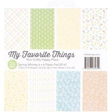 "My Favorite Things Paper Pad 6x6"" - Spring Whimsy"