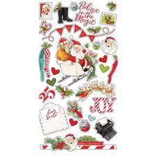Simple Stories Chipboard Stickers - North Pole
