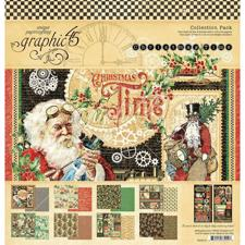 "Graphic 45 Collection Pack 12x12"" - Christmas Time"