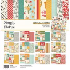 "Simple Stories Paper Pack 12x12"" Collection - Hello Today"