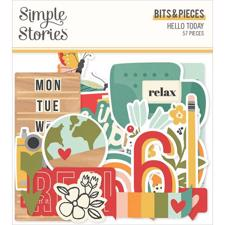 Simple Stories Die Cuts - Bits & Pieces / Hello Today