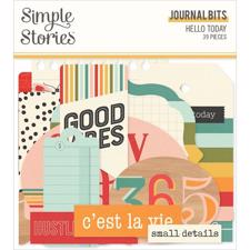 Simple Stories Die Cuts - Journal Bits / Hello Today