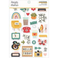 Simple Stories Die Cuts - Sticker Book / Hello Today