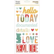 Simple Stories Die Cuts - Foam Stickers / Hello Today