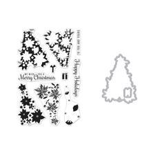 Hero Arts Clear Stamp & DIE Set - Color Layering Poinsettia Christmas