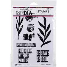 Dina Wakley Cling Rubber Stamp Set - Be Willing