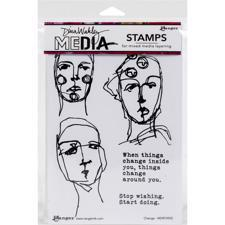 Dina Wakley Cling Rubber Stamp Set - Change