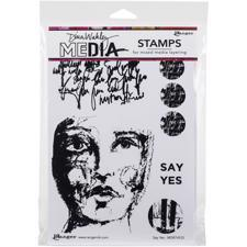Dina Wakley Cling Rubber Stamp Set - Say Yes