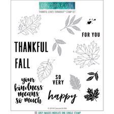 Concord & 9th Stamp - Thankful Leaves Turnabout