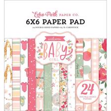 "Echo Park Paper Pad 6x6"" - Welcome Baby Girl"