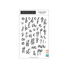 Concord & 9th Stamp Set - Love Letters (lowercase)