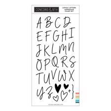 Concord & 9th Stamp Set - Love Letters (uppercase)