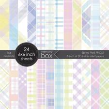 "Memory Box Paper Pad 6x6"" - Spring Plaid"