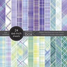 "Memory Box Paper Pad 6x6"" - Madras Plaid Blue & Violet"