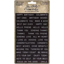 Tim Holtz / Idea-ology - Label Stickers Sentiments