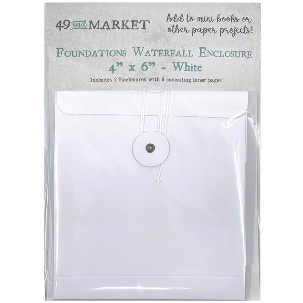 "49 And Market - Foundations Waterfall Enclosure 4""X6"" / White"