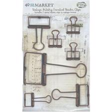 49 and Market - Binder Clips / Antique Bronze