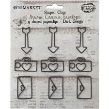 49 and Market - Paperclips Shapes / Dark Greig