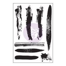 Prima Cling Stamp Set - Brush Strokes