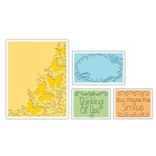 Sizzix Textured Impression Embossing Folders - Butterfly Migration