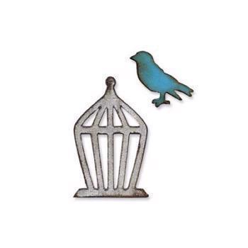 Tim Holtz / Sizzix Movers & Shapers - Mini Bird & Cage