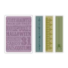 Sizzix Texture Embossing Folders - Tim Holtz / Halloween Backgrounds & Borders