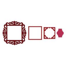 Sizzix Framelits Die Set 4PK - Fancy Square