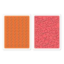 Sizzix Embossing Folders - Hero Arts / Chevrons & Flourishes