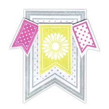 Sizzix Framelits & Clear Stamp Set - Banners