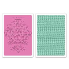 Sizzix Textured Impression Embossing Folders - English Botanical & Houndstooth