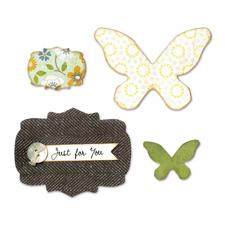Sizzix Bigz Die - Butterflies and Labels