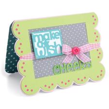 Sizzix Framelits Die Set - Scallop Greetings Drop-Ins Card (15 dele)