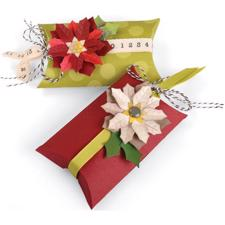 SizzixThinlits Die Set - Pillow & Poinsettias Box