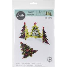 SizzixThinlits Die Set - Fold-a-Long Card / Christmas Tree
