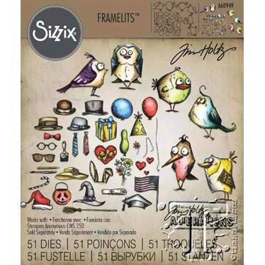 Sizzix Thinlits - Tim Holtz / MINI Crazy Birds & Things (dies)