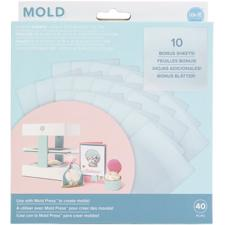 WRMK 3D Mold Press - Clear Plastic Sheets (40 pcs)