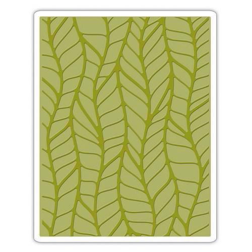 Sizzix Embossing Folder - Tim Holtz / Leafy