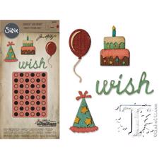 Tim Holtz Sizzix Thinlits - SideOrder Set / Birthday