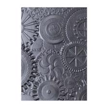 Sizzix 3D Embossing Folder - Tim Holtz / Mechanics (gears)