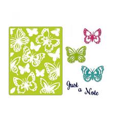 Sizzix Thinlits & Embossing Folder - Just a Note Butterflies
