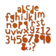 Sizzix Thinlits - Tim Holtz / Alphanumeric Cutout - Lower