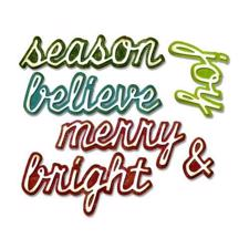 Sizzix Thinlits - Tim Holtz / Shadow Script Christmas