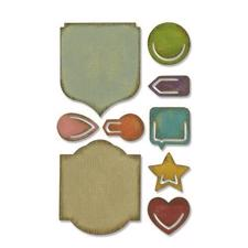 Tim Holtz Sizzix Thinlits - SideOrder Set / Noted