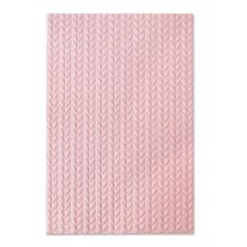 Sizzix 3D Embossing Folder - Knitted (strik)