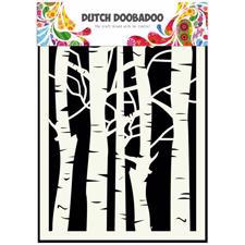 Doobadoo Mask Art - A5 Stencil / Birch Trees