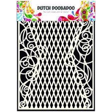 Doobadoo Mask Art - A5 Stencil / Lattice & Swirls