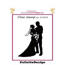 Clearstamp Felicita Design - Brudepar