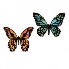 Sizzix Thinlits - Tim Holtz / MINI Detailed Butterflies (små)