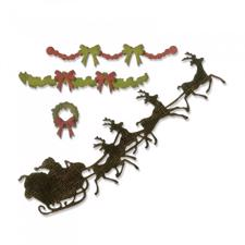 Sizzix Thinlits - Tim Holtz / Village Christmas Time (sleigh)