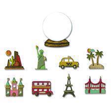 Sizzix Thinlits - Tim Holtz /  Tiny Travel Globe